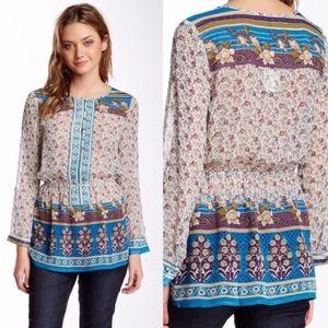 Lucky Brand Savannah Gypsy Peasant Tunic Top XL